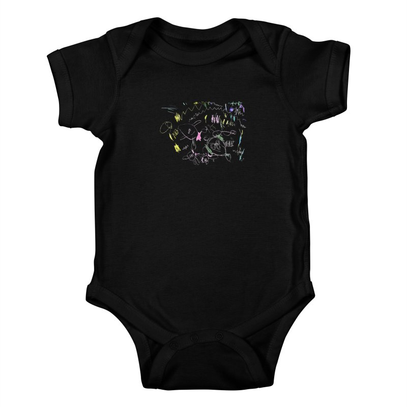 Ellowyn's Family Portrait Kids Baby Bodysuit by The Life of Curiosity Store