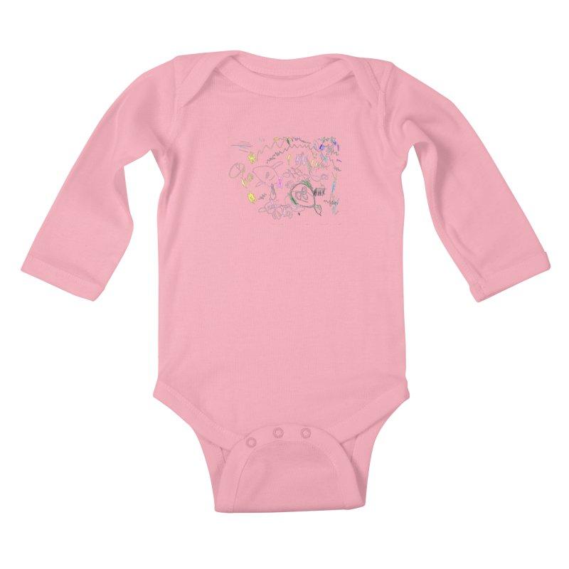 Ellowyn's Family Portrait Kids Baby Longsleeve Bodysuit by The Life of Curiosity Store