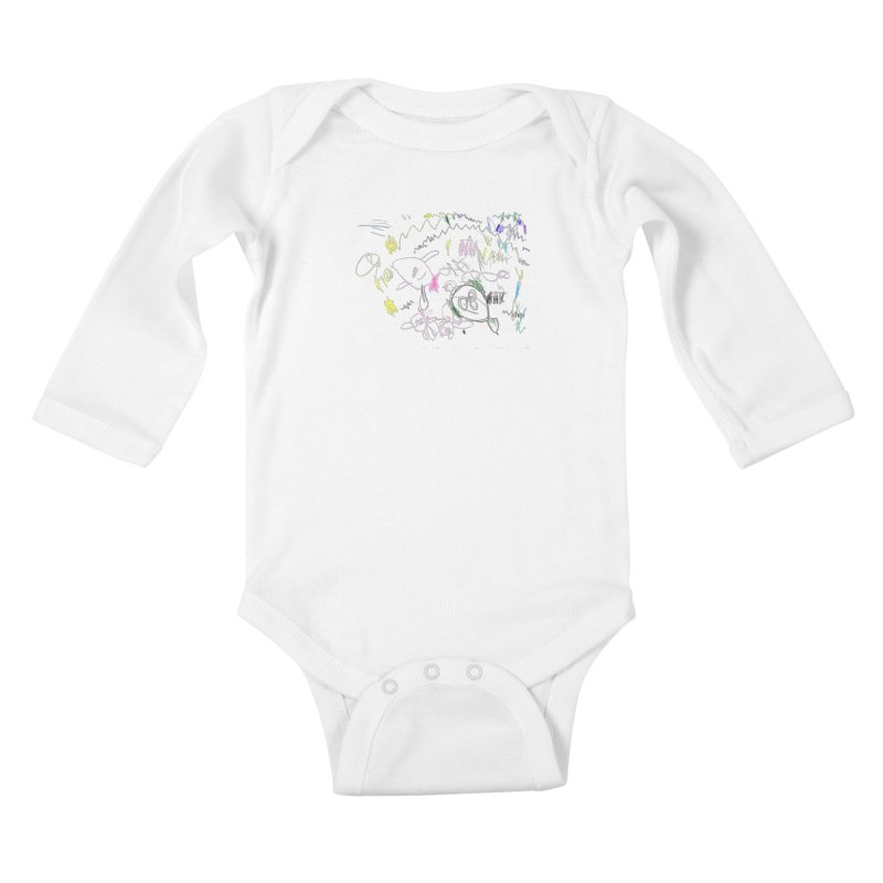 Ellowyn's Family Portrait Kids Baby Longsleeve Bodysuit by The Life of Curiosity Store