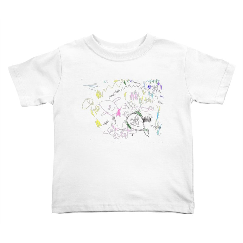 Ellowyn's Family Portrait Kids Toddler T-Shirt by The Life of Curiosity Store