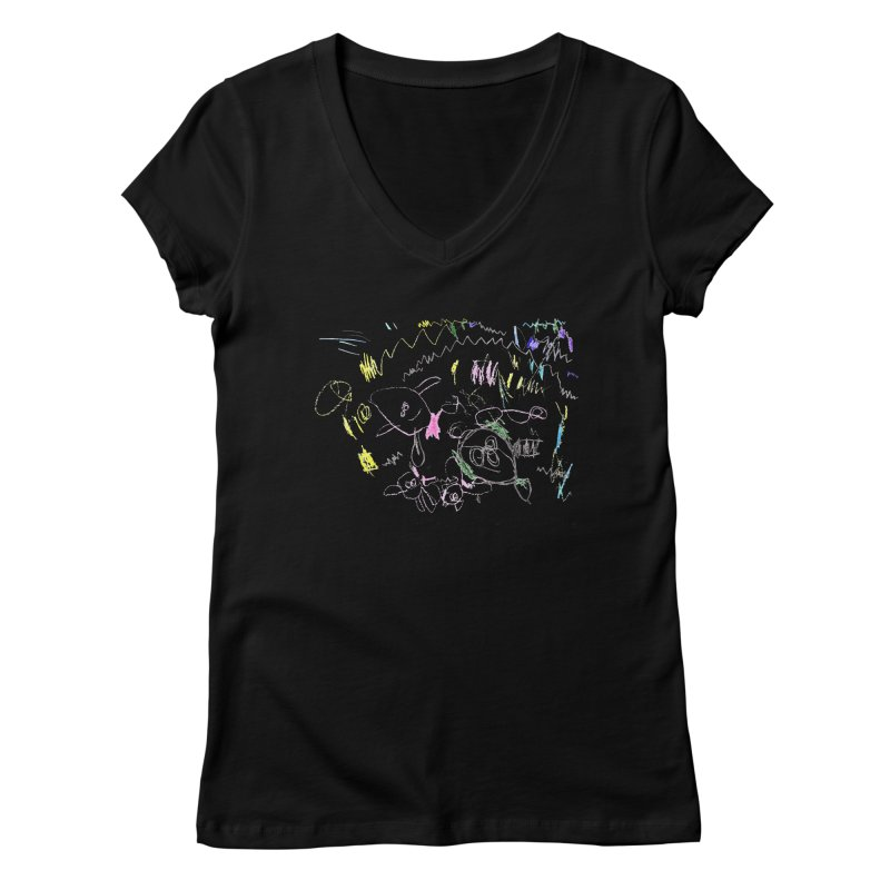 Ellowyn's Family Portrait Women's V-Neck by The Life of Curiosity Store