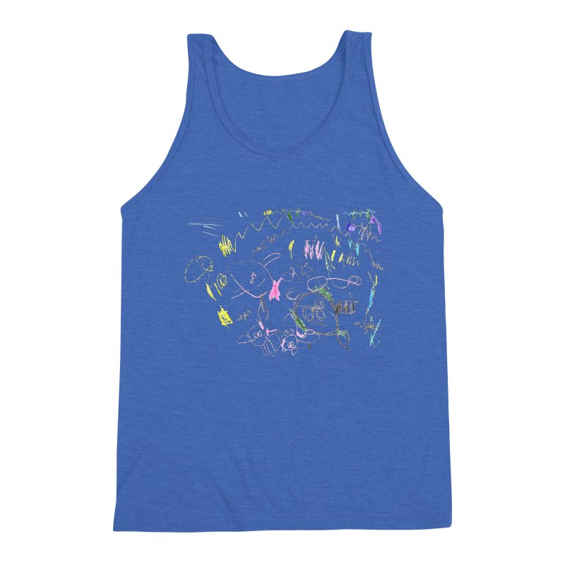 Ellowyn's Family Portrait Men's Triblend Tank by The Life of Curiosity Store