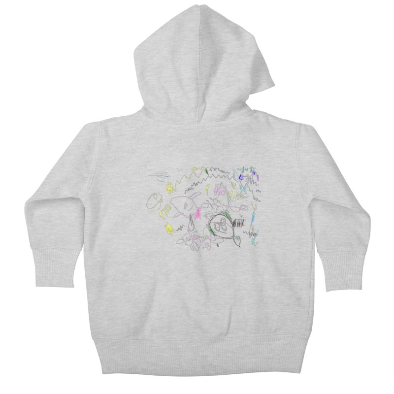 Ellowyn's Family Portrait Kids Baby Zip-Up Hoody by The Life of Curiosity Store