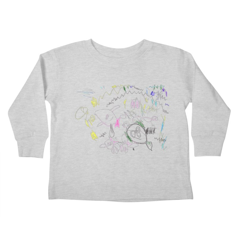 Ellowyn's Family Portrait Kids Toddler Longsleeve T-Shirt by The Life of Curiosity Store