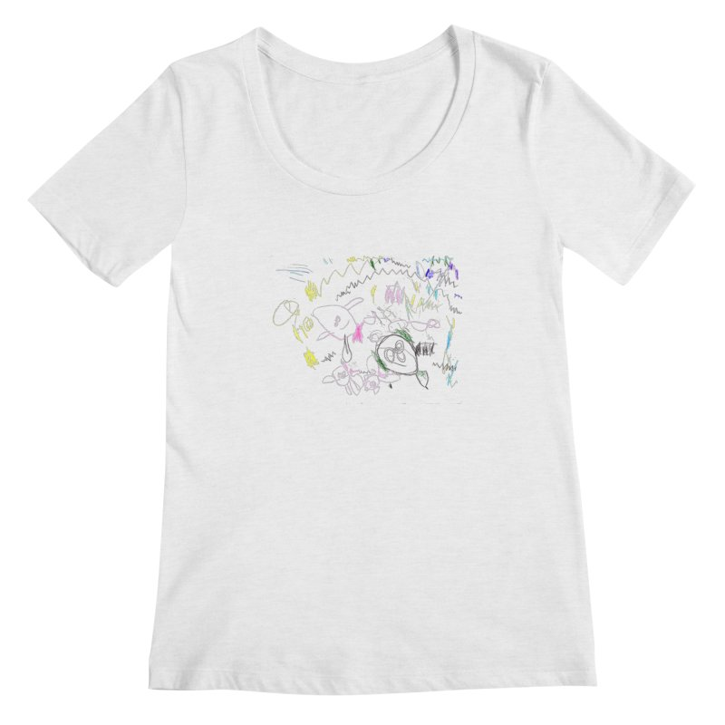Ellowyn's Family Portrait Women's Regular Scoop Neck by The Life of Curiosity Store