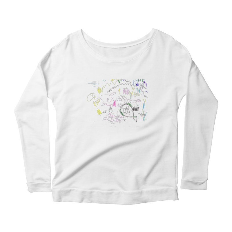 Ellowyn's Family Portrait Women's Scoop Neck Longsleeve T-Shirt by The Life of Curiosity Store