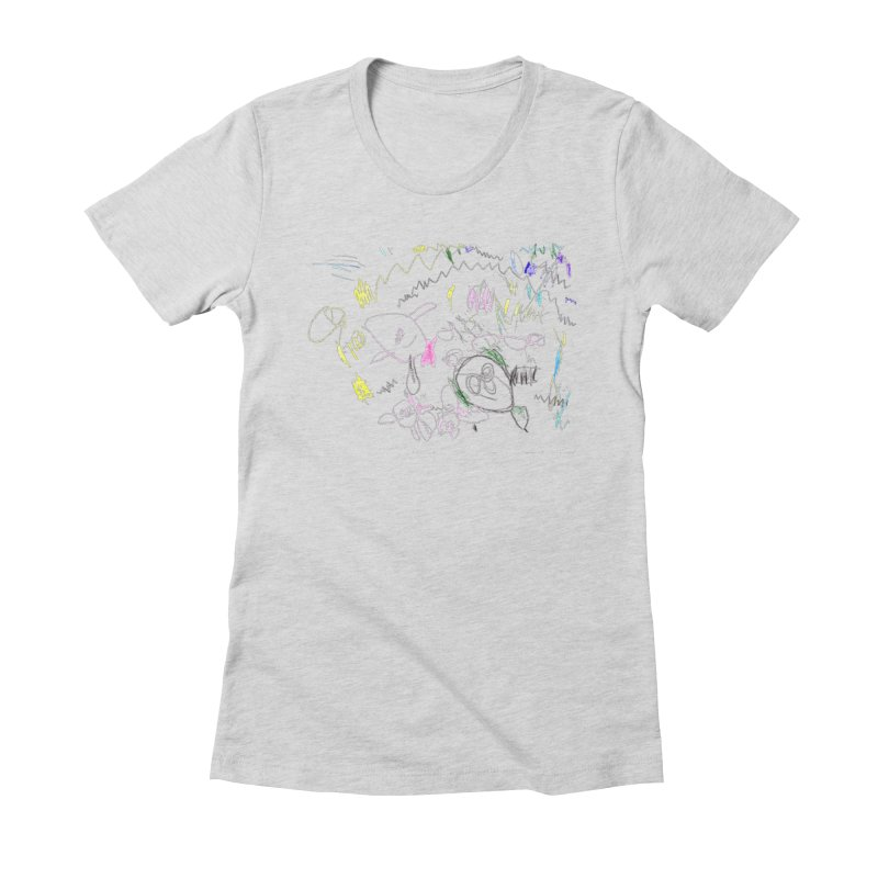 Ellowyn's Family Portrait Women's Fitted T-Shirt by The Life of Curiosity Store