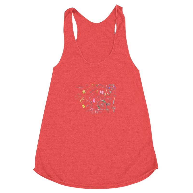 Ellowyn's Family Portrait Women's Racerback Triblend Tank by The Life of Curiosity Store
