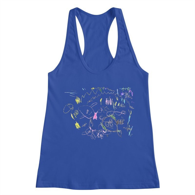 Ellowyn's Family Portrait Women's Racerback Tank by The Life of Curiosity Store