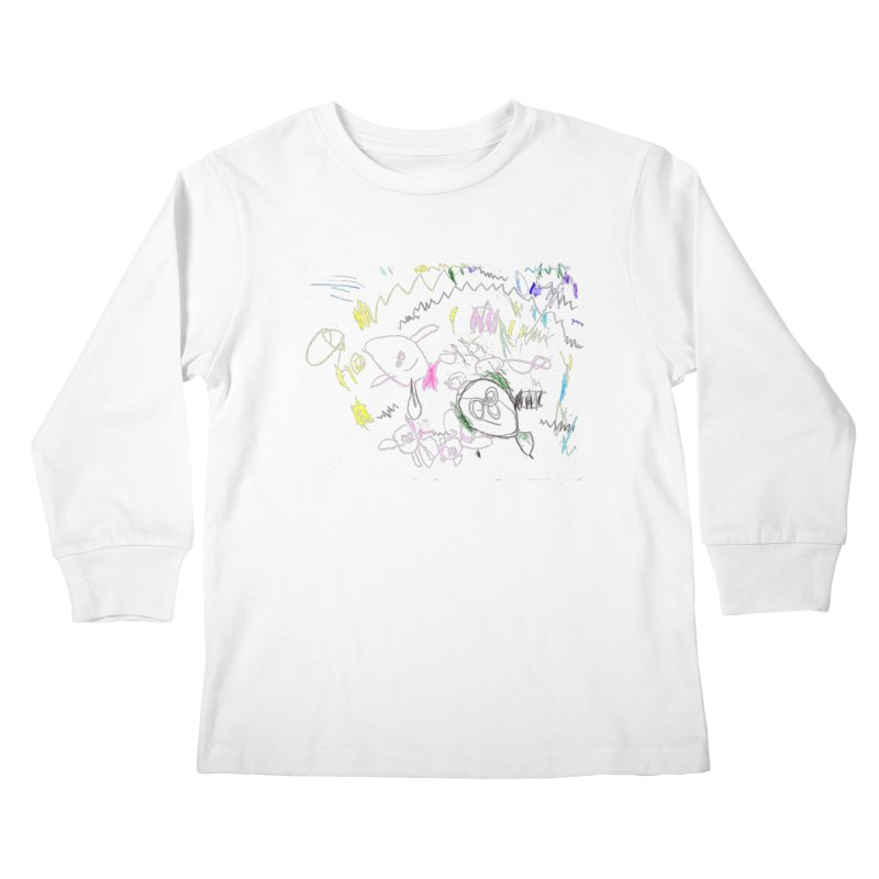 Ellowyn's Family Portrait Kids Longsleeve T-Shirt by The Life of Curiosity Store