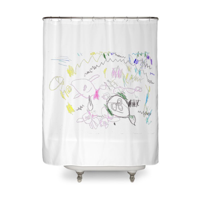 Ellowyn's Family Portrait Home Shower Curtain by The Life of Curiosity Store