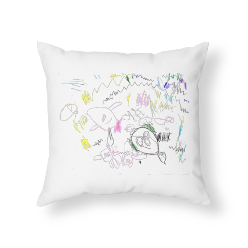 Ellowyn's Family Portrait Home Throw Pillow by The Life of Curiosity Store
