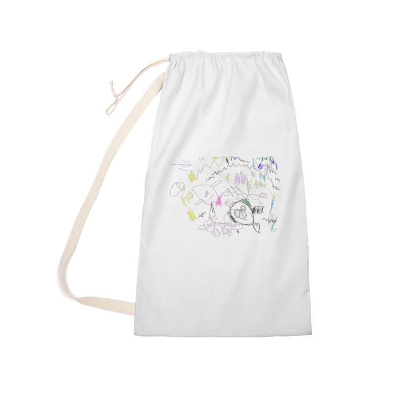 Ellowyn's Family Portrait Accessories Laundry Bag Bag by The Life of Curiosity Store