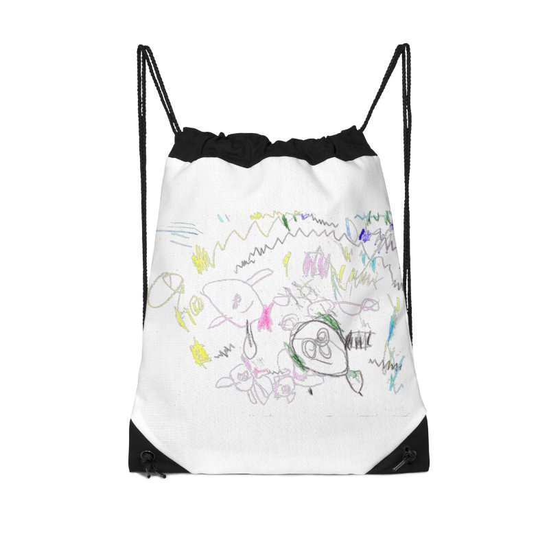 Ellowyn's Family Portrait Accessories Drawstring Bag Bag by The Life of Curiosity Store