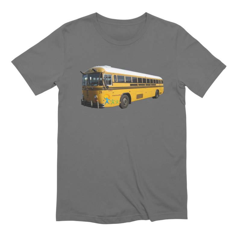 Leia Bus in Men's Extra Soft T-Shirt Asphalt by The Life of Curiosity Store