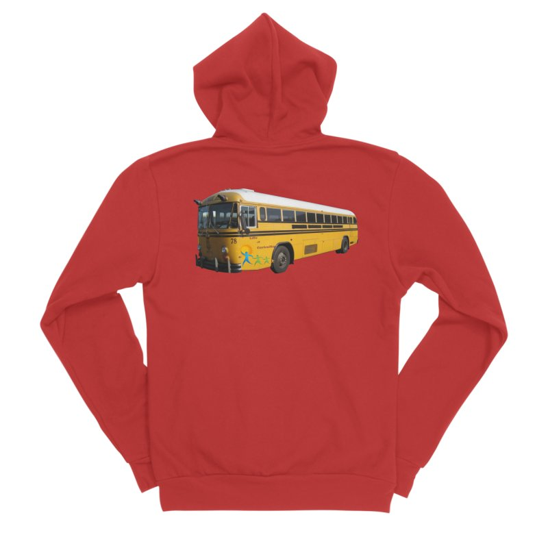 Leia Bus Men's Sponge Fleece Zip-Up Hoody by The Life of Curiosity Store