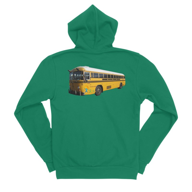 Leia Bus Men's Sponge Fleece Zip-Up Hoody by The Life of Curiosity Store