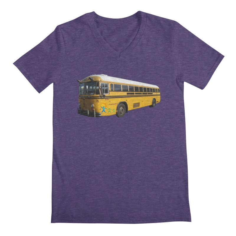 Leia Bus Men's Regular V-Neck by The Life of Curiosity Store