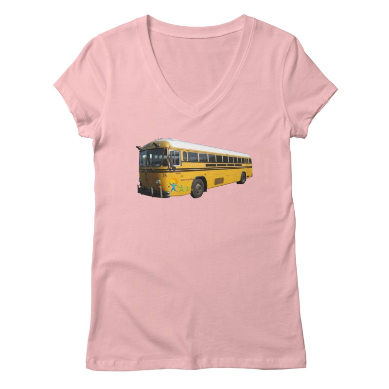 Leia Bus Women's Regular V-Neck by The Life of Curiosity Store