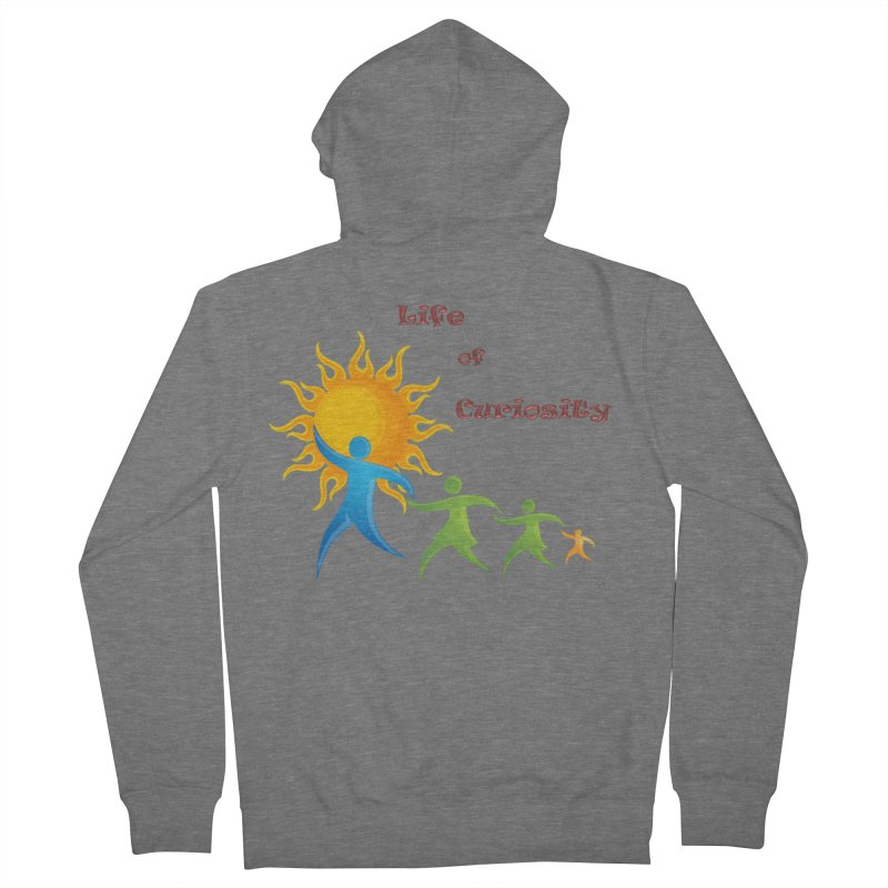 The LoC Logo Men's French Terry Zip-Up Hoody by The Life of Curiosity Store