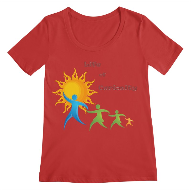 The LoC Logo Women's Regular Scoop Neck by The Life of Curiosity Store