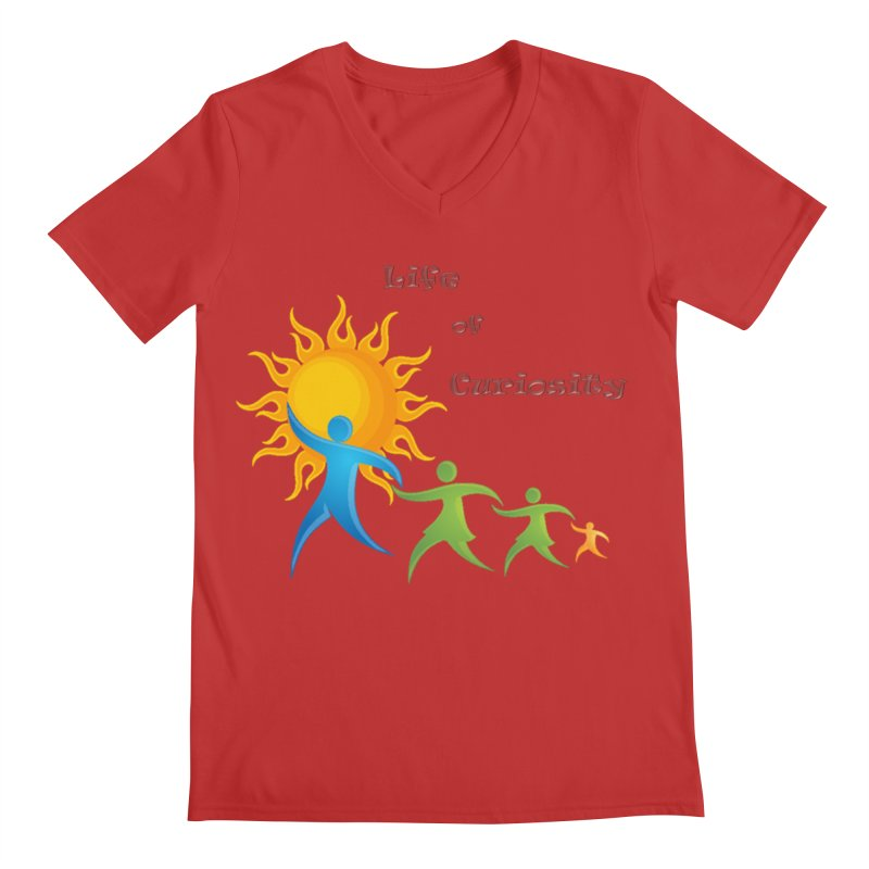 The LoC Logo Men's V-Neck by The Life of Curiosity Store