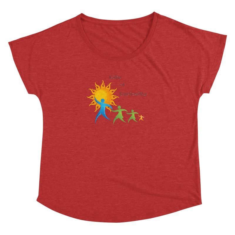 The LoC Logo Women's Dolman Scoop Neck by The Life of Curiosity Store
