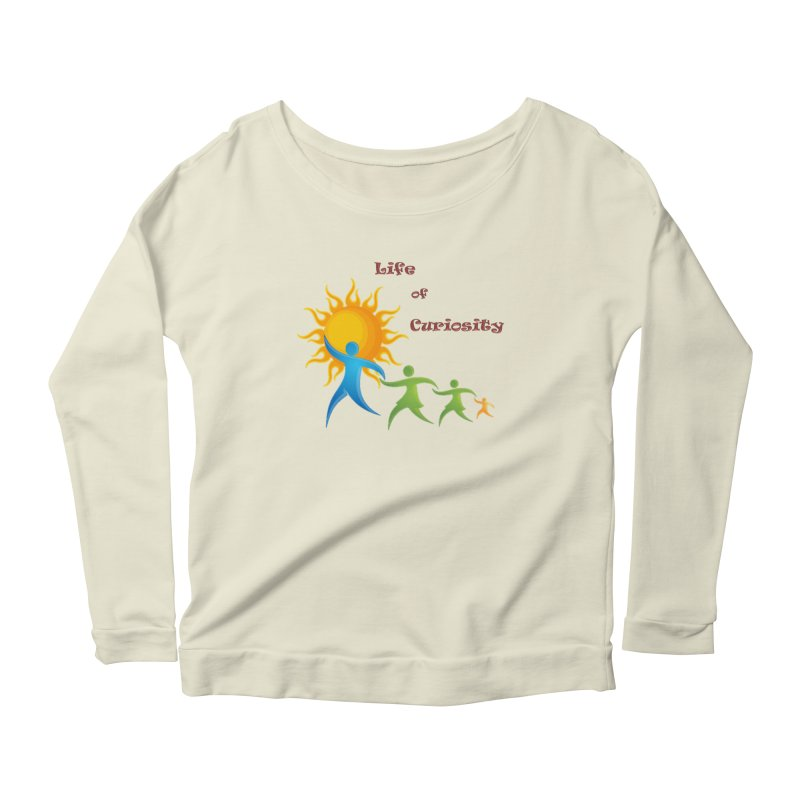 The LoC Logo Women's Scoop Neck Longsleeve T-Shirt by The Life of Curiosity Store