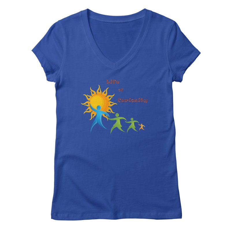 The LoC Logo Women's V-Neck by The Life of Curiosity Store