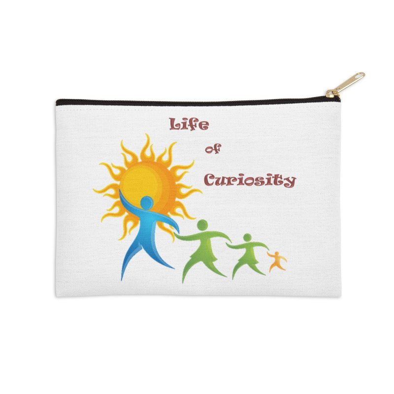 The LoC Logo Accessories Zip Pouch by The Life of Curiosity Store