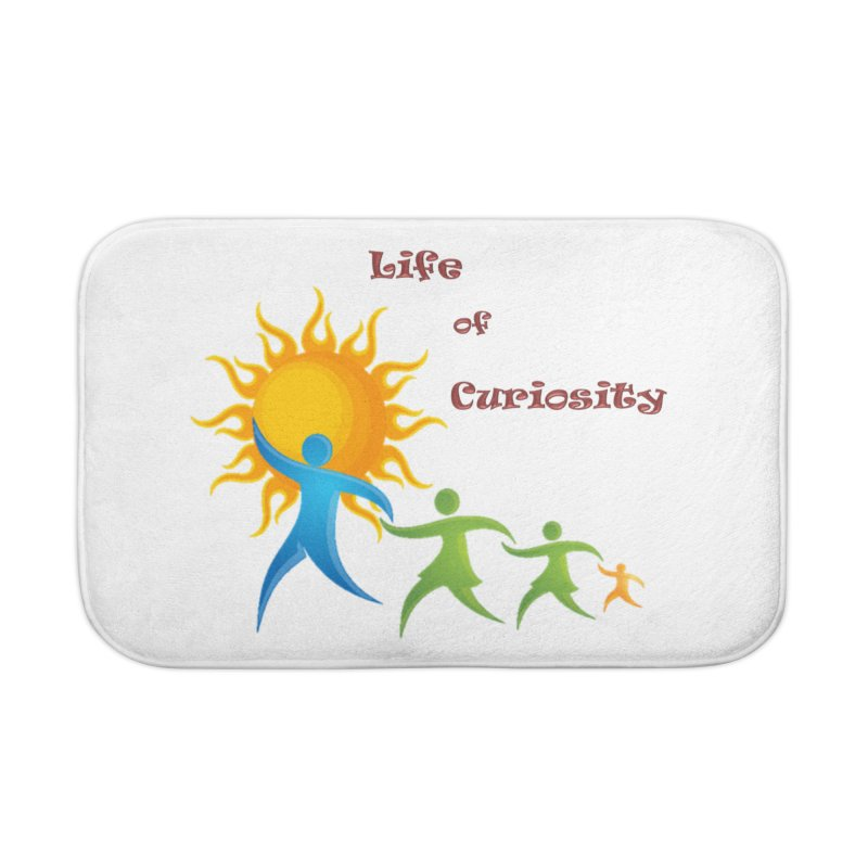 The LoC Logo Home Bath Mat by The Life of Curiosity Store