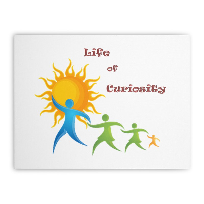 The LoC Logo Home Stretched Canvas by The Life of Curiosity Store