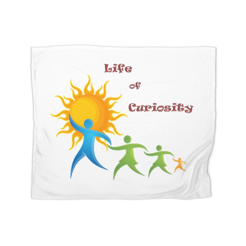 The LoC Logo Home Fleece Blanket Blanket by The Life of Curiosity Store