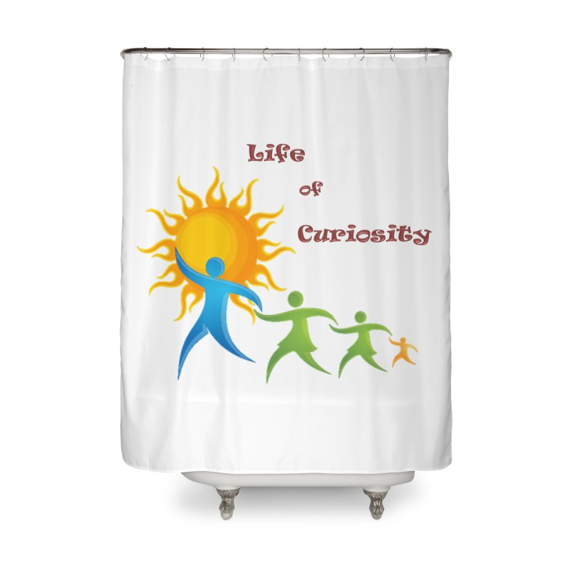 The LoC Logo Home Shower Curtain by The Life of Curiosity Store