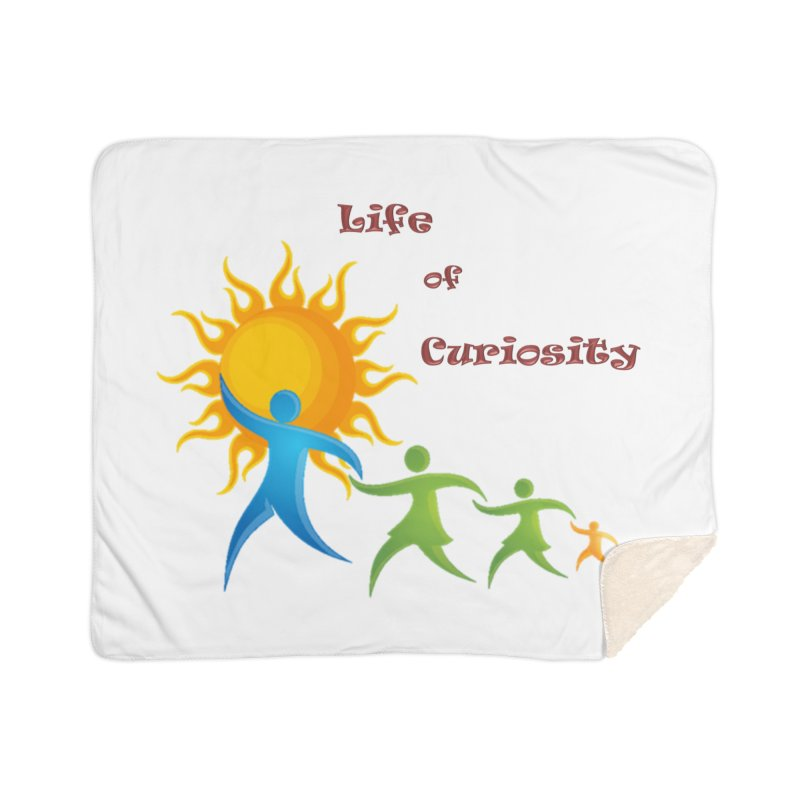 The LoC Logo Home Sherpa Blanket Blanket by The Life of Curiosity Store