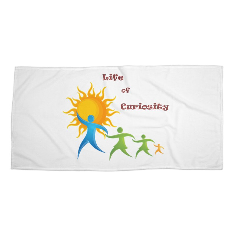 The LoC Logo Accessories Beach Towel by The Life of Curiosity Store