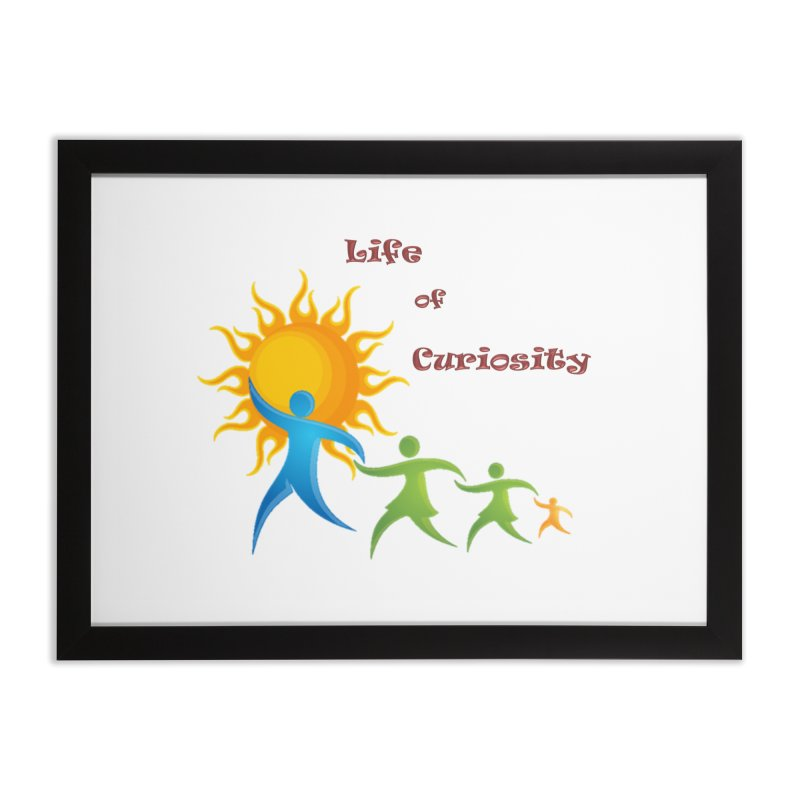 The LoC Logo Home Framed Fine Art Print by The Life of Curiosity Store
