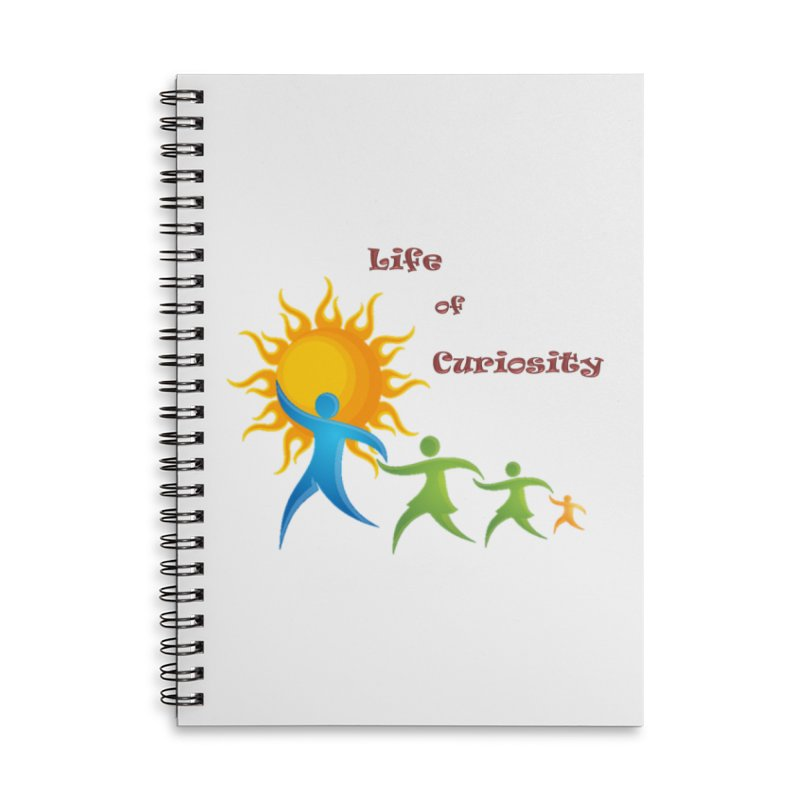 The LoC Logo Accessories Lined Spiral Notebook by The Life of Curiosity Store