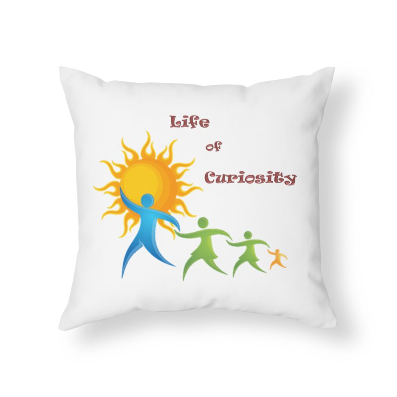 The LoC Logo Home Throw Pillow by The Life of Curiosity Store