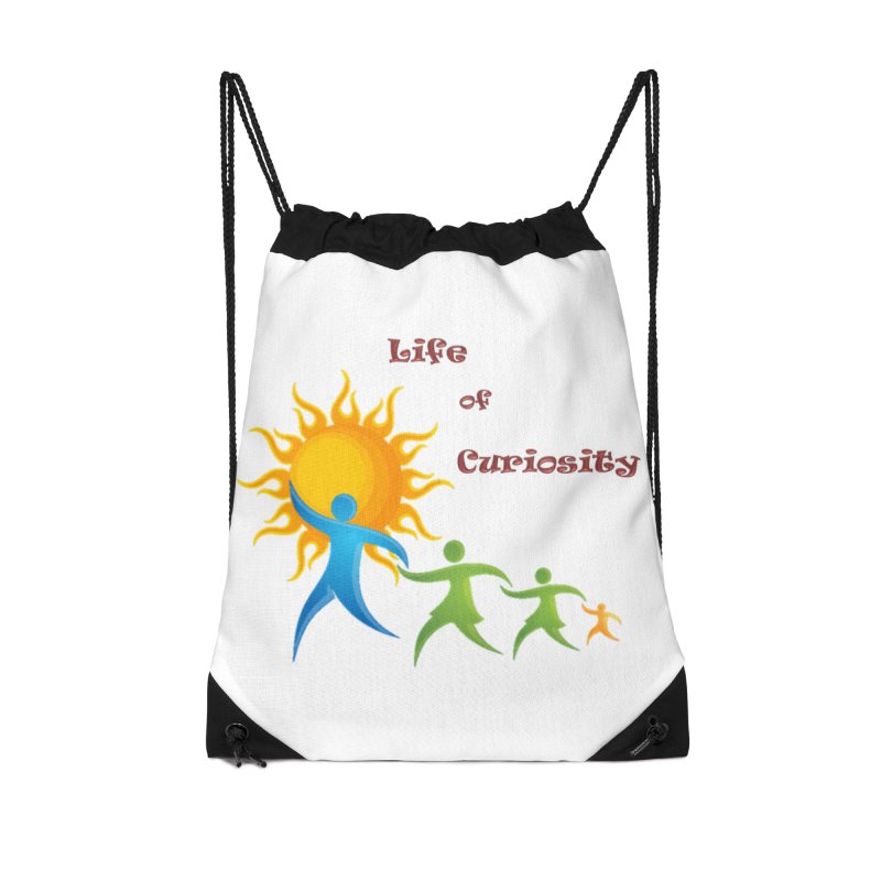 The LoC Logo Accessories Drawstring Bag Bag by The Life of Curiosity Store