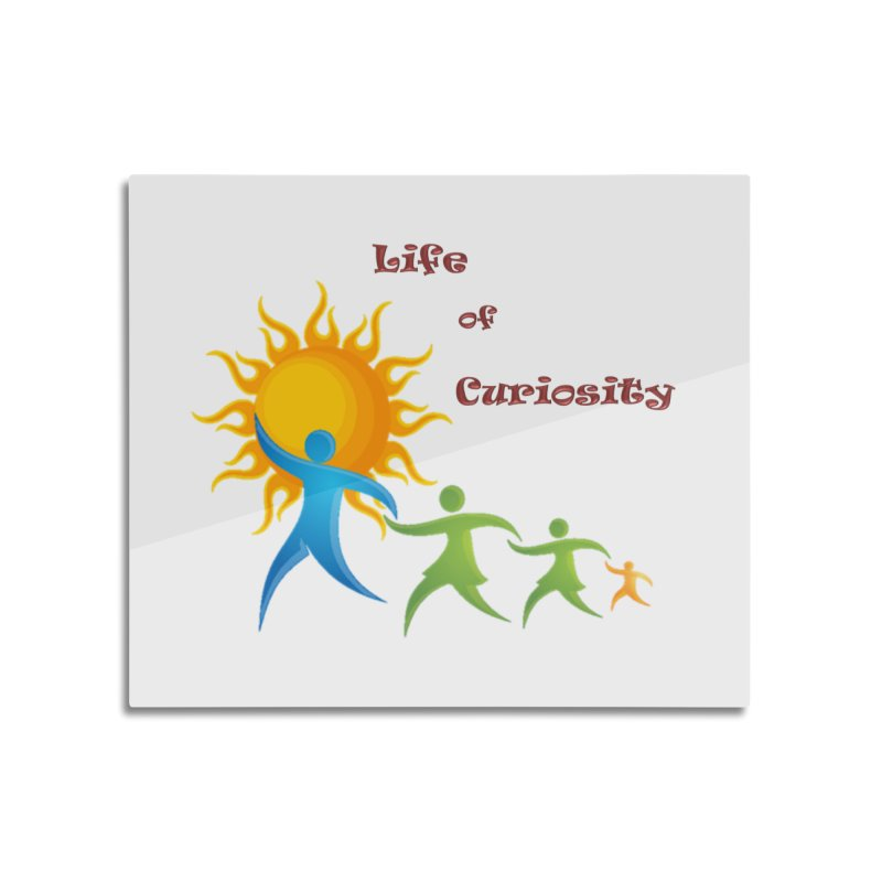 The LoC Logo Home Mounted Aluminum Print by The Life of Curiosity Store
