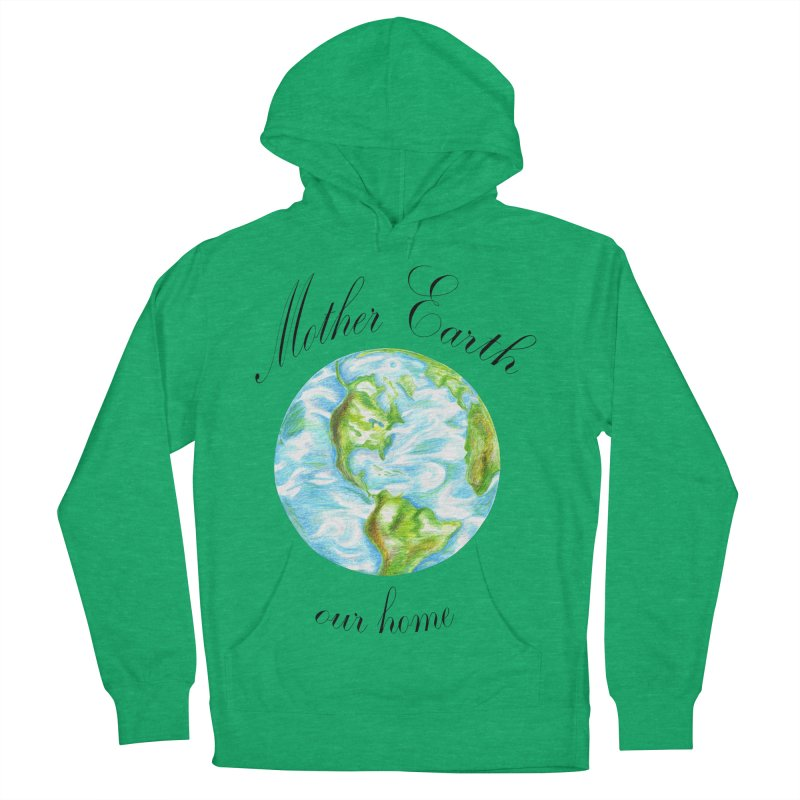 Mother Earth our home Men's French Terry Pullover Hoody by The Life of Curiosity Store