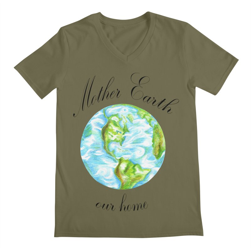 Mother Earth our home Men's V-Neck by The Life of Curiosity Store