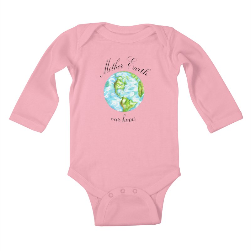Mother Earth our home Kids Baby Longsleeve Bodysuit by The Life of Curiosity Store