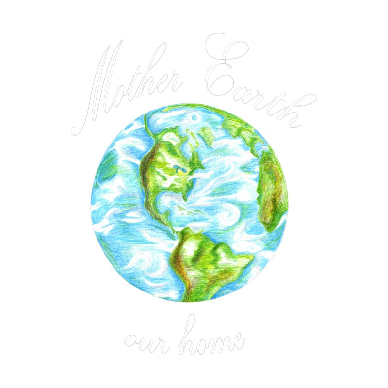 Mother Earth our home Home Fine Art Print by The Life of Curiosity Store