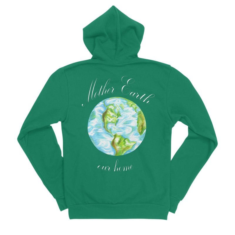 Mother Earth our home Men's Zip-Up Hoody by The Life of Curiosity Store