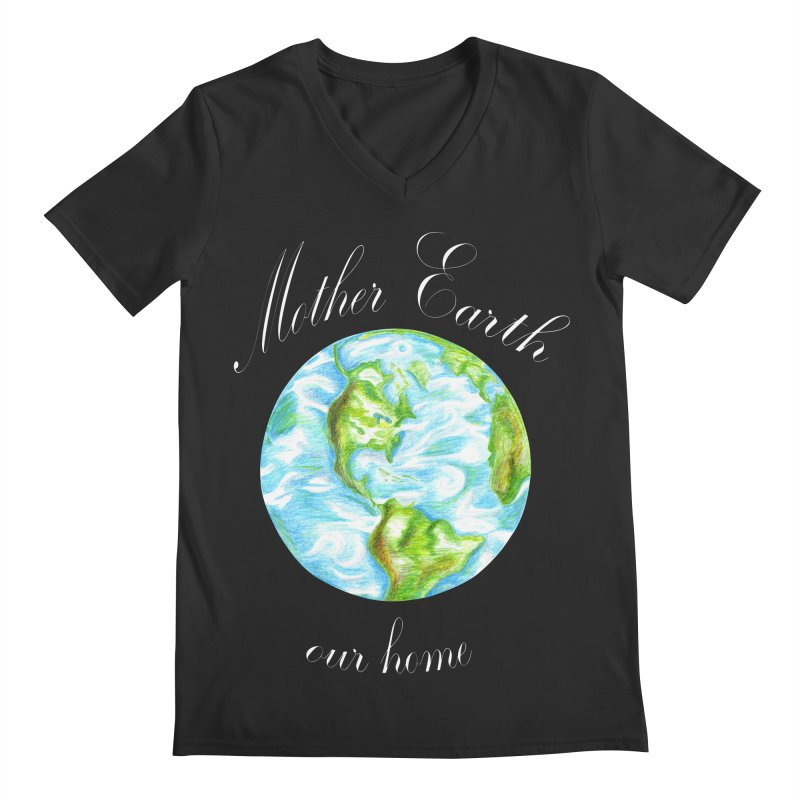 Mother Earth our home Men's Regular V-Neck by The Life of Curiosity Store
