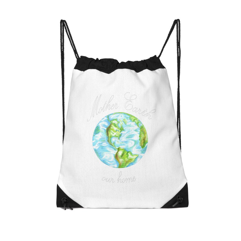 Mother Earth our home Accessories Drawstring Bag Bag by The Life of Curiosity Store