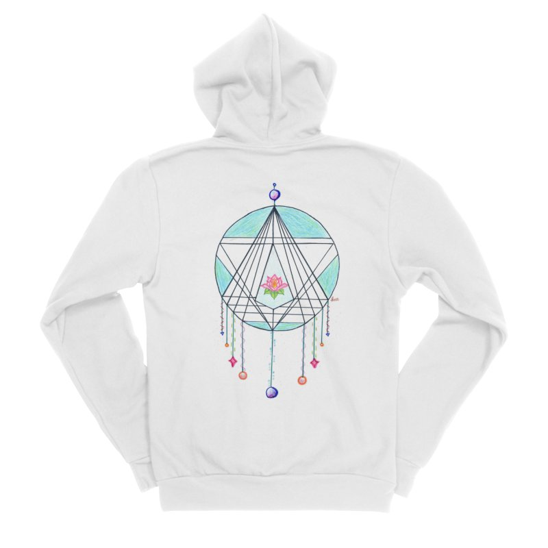Dreamcatcher Women's Sponge Fleece Zip-Up Hoody by The Life of Curiosity Store