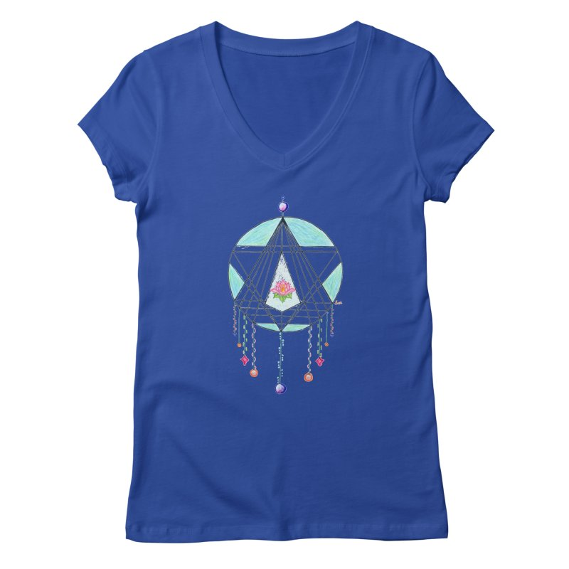 Dreamcatcher Women's V-Neck by The Life of Curiosity Store